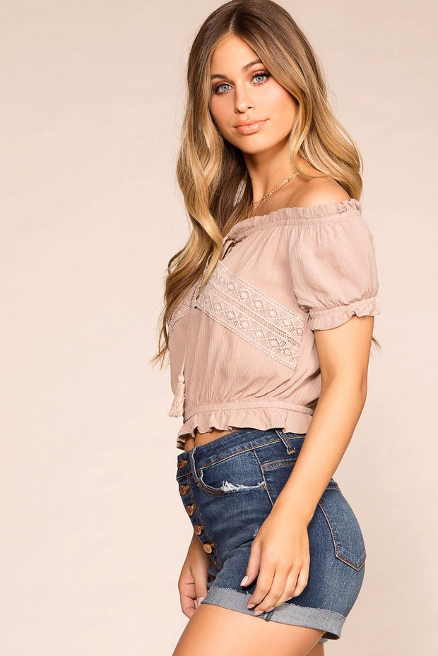 Priceless | Taupe | Off The Shoulder Top | Womens