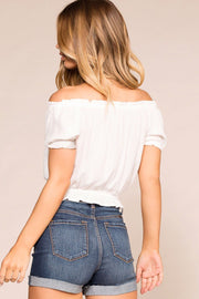 Michelle White Off The Shoulder Top | Shop Priceless