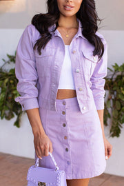 Lavender Denim Jacket