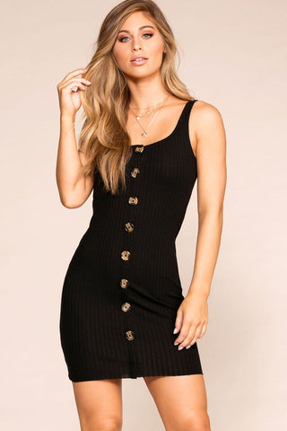 Out All Night Black Bodycon Dress