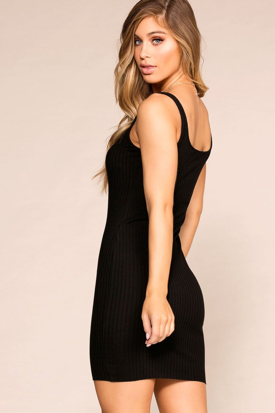 Priceless | Black | Buttoned | Bodycon | Dress | Womens
