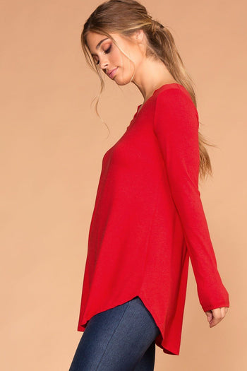 Missy Ruby Long Sleeve V-Neck Top | Shop Priceless