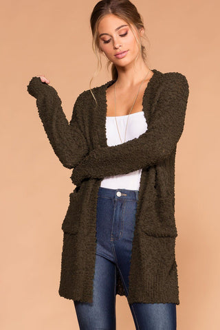 Macie Heather Grey Cardigan