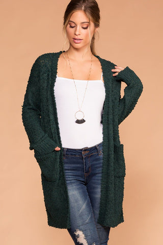 Cozy Cable Oversized Cardigan Sweater - Camel