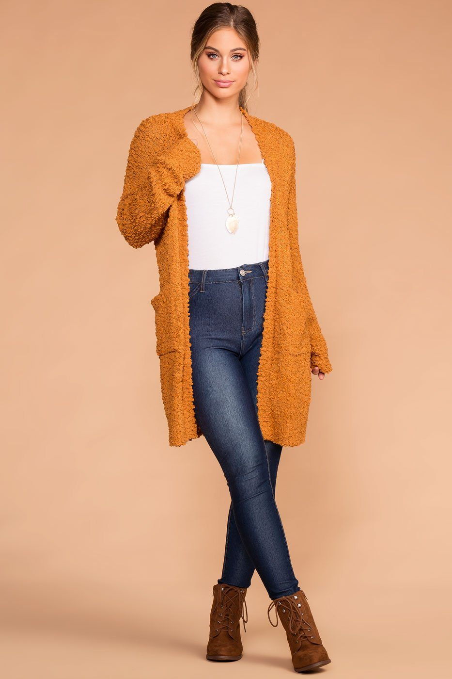 Mistletoe Mustard Pocket Cardigan