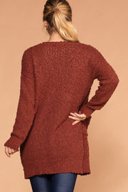 Mistletoe Rust Pocket Cardigan | Zenana