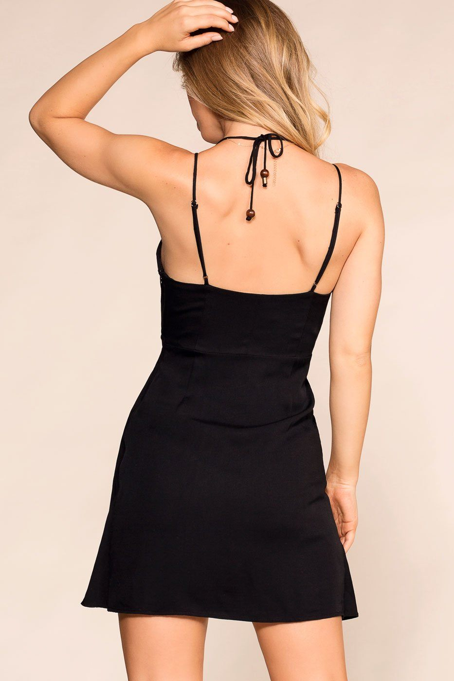 Shop Priceless | Black | Twist-Front Dress | Womens