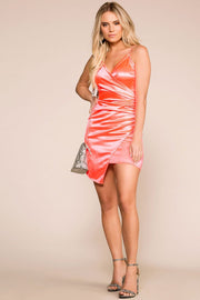 Priceless | Neon | Pink | Asymmetrical | Wrap Dress | Womens