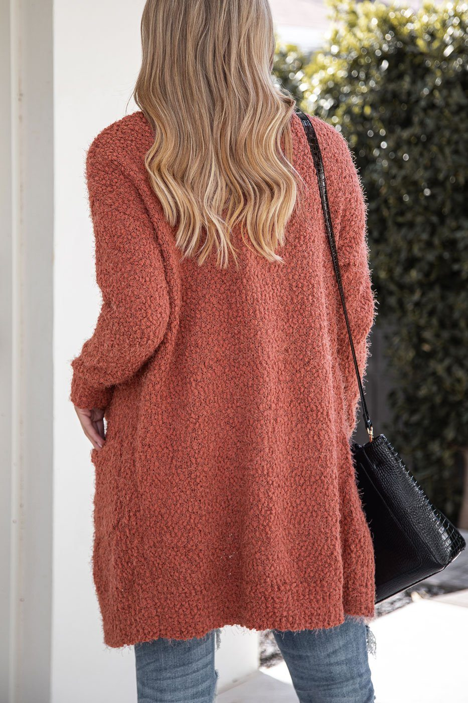 Soft Fuzzy Rust Cardigan