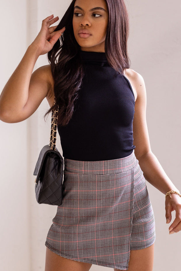 Mona Black Crop Top