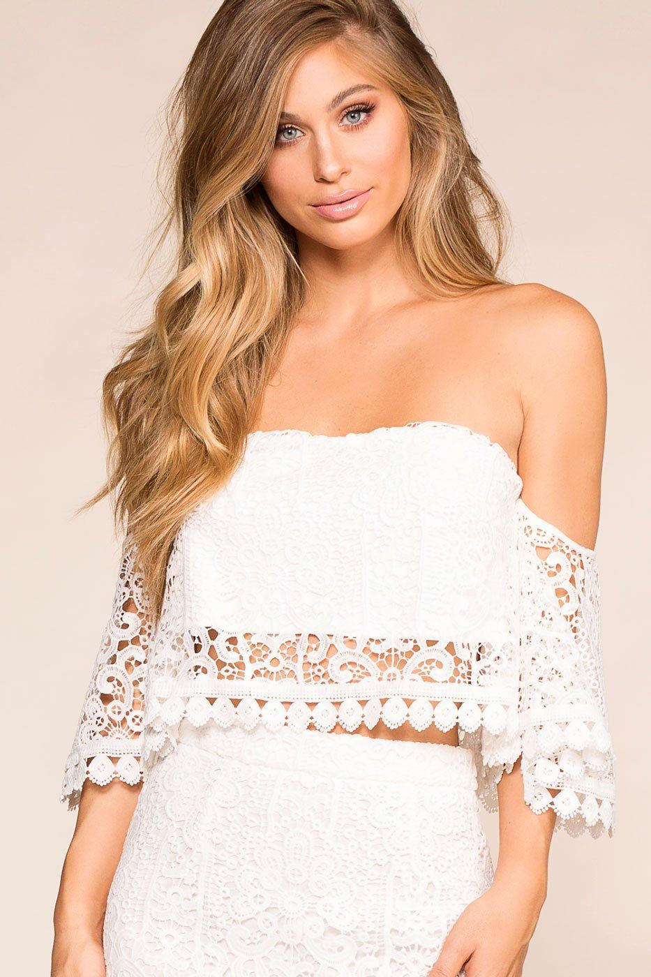 30f20c62d3f ... Shop Priceless | White | Crochet | Off The Shoulder Top | Womens ...