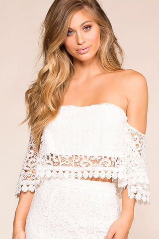 Michelle White Off The Shoulder Top