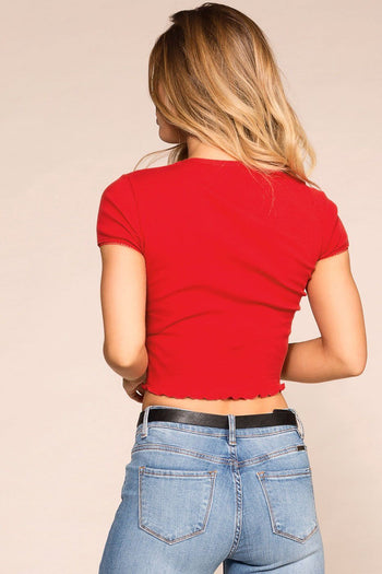 Priceless | Red | Crop Top | Womens