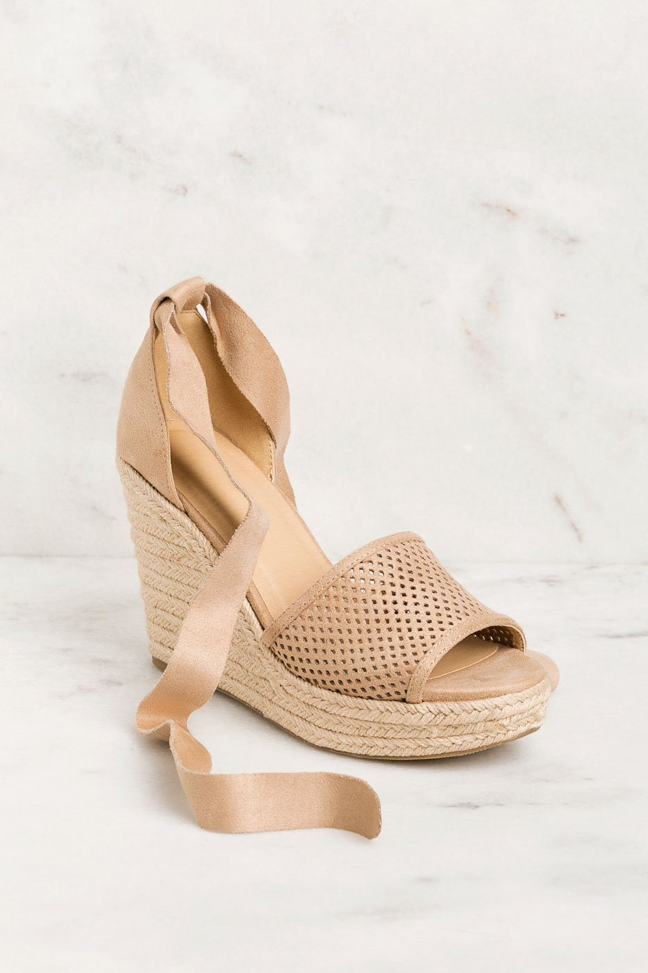 Shop Priceless | Taupe | Wrap | Wedges | Shoes | Womens