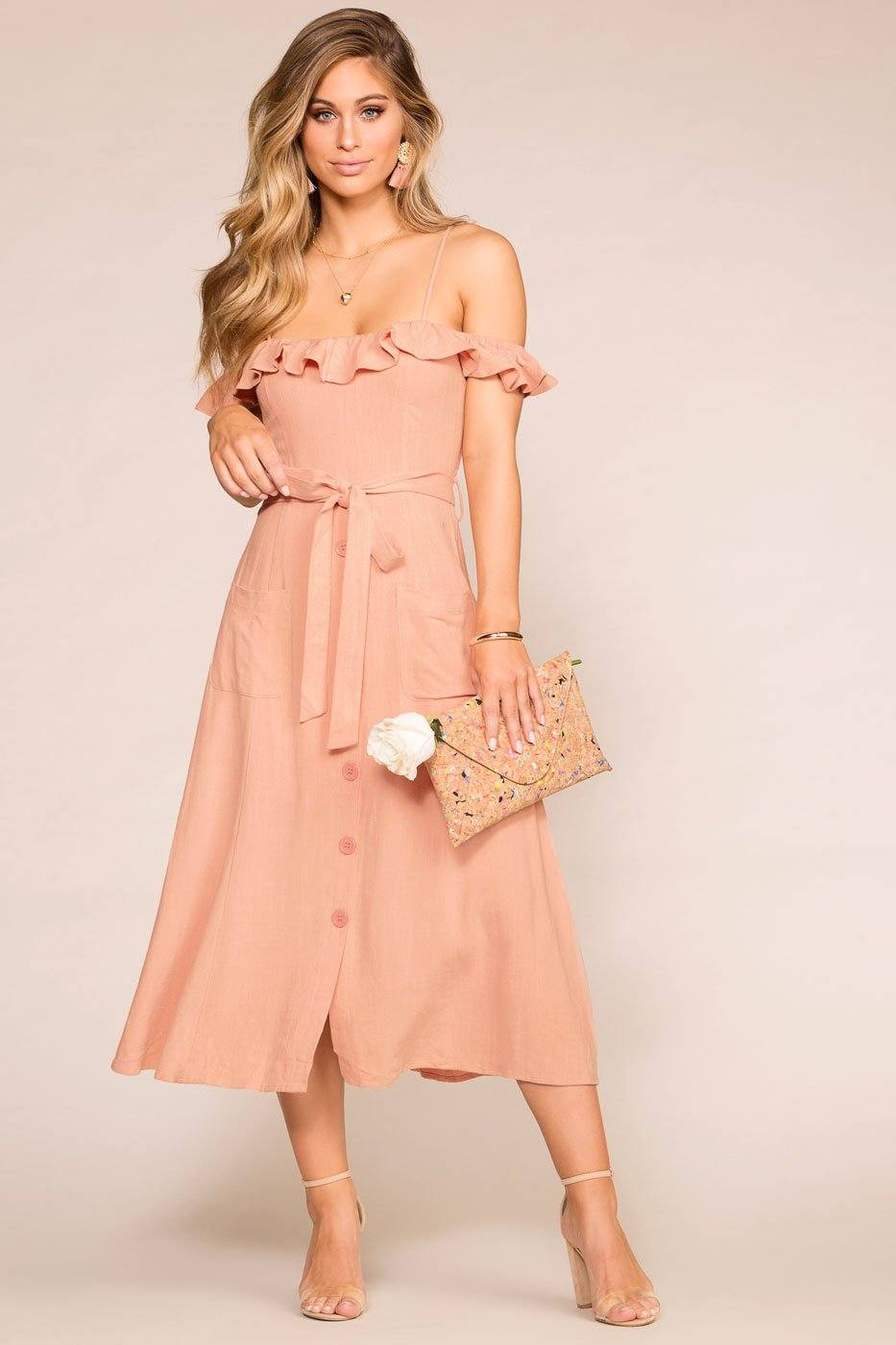 Monterey Peach Maxi Dress | Hyfve