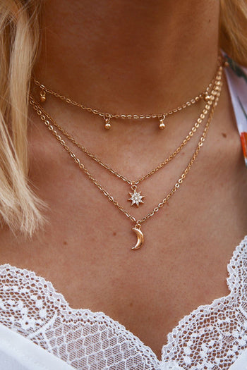 Moonlighter Gold Layered Necklace | Beautysis