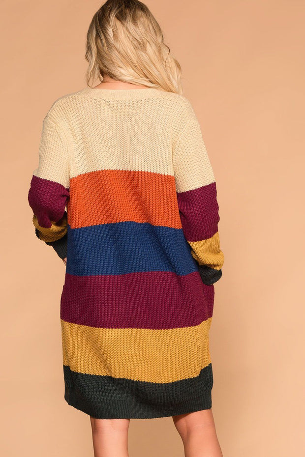 Myra Stripe Sweater Cardigan | Shop Priceless