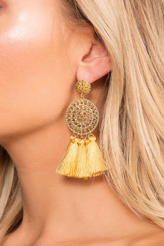 Kelli Earrings - Brick