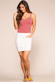Priceless | Red | Striped | Tank Top | Womens