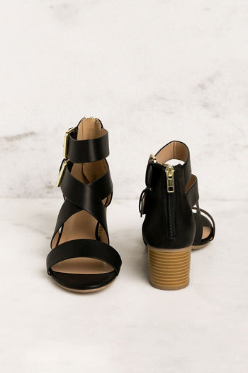 Priceless | Black | Low Block Heels | Womens