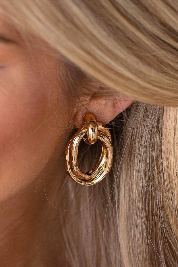 Never Let Go Gold Earrings