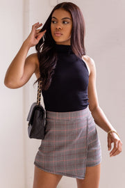 Never Say Never Plaid Skort