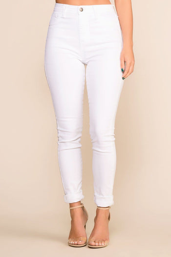 Priceless | White | Skinny | High Waisted Jeans | Womens