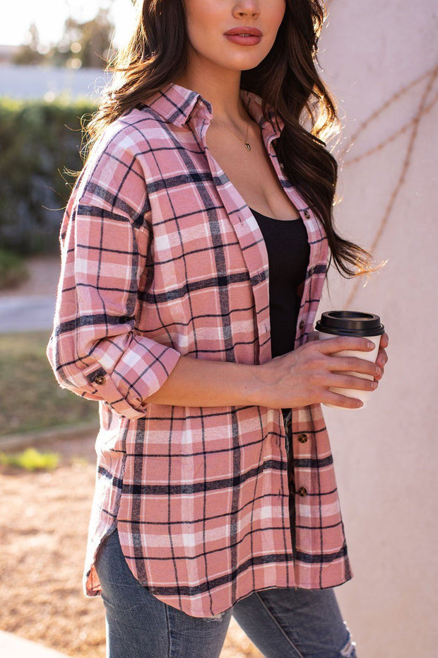 Mauve Plaid Top