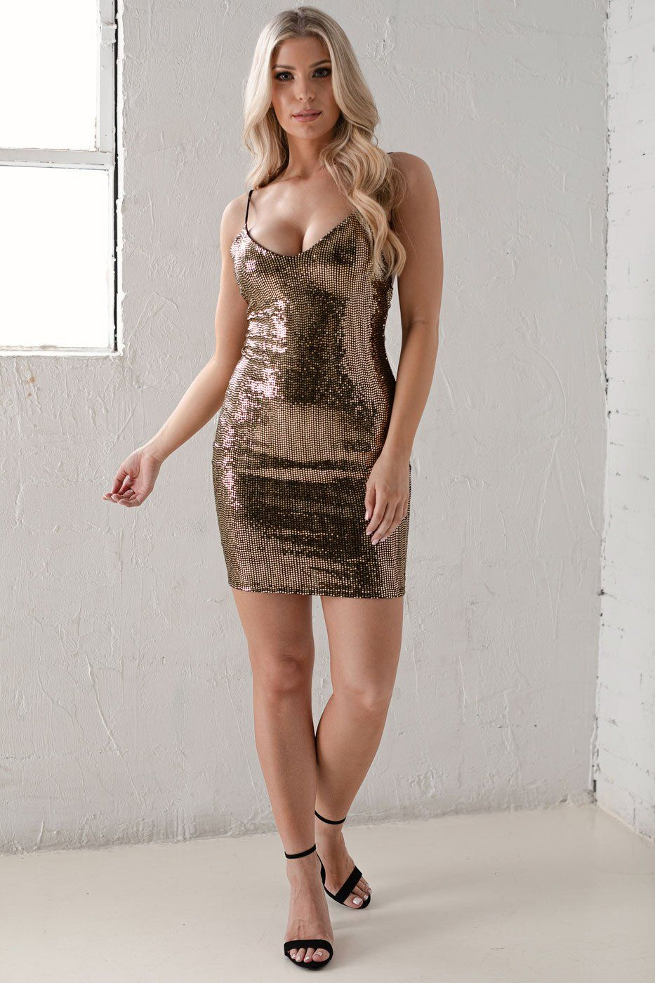 Nightlight Glitter Mini Dress