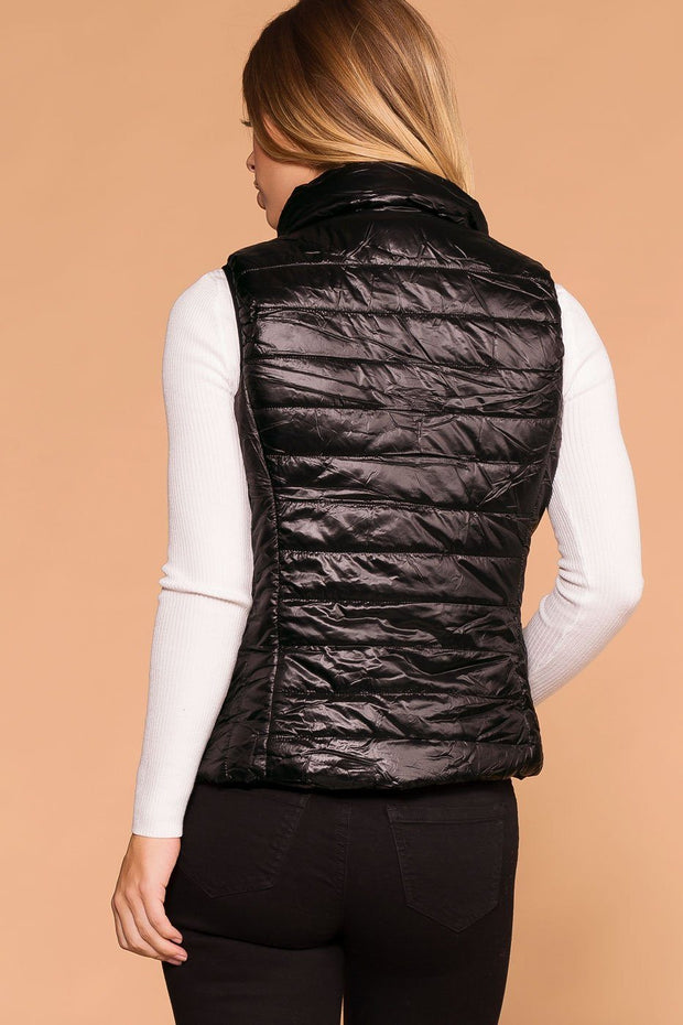 Priceless | Lightweight Black Puffer Vest | Womens