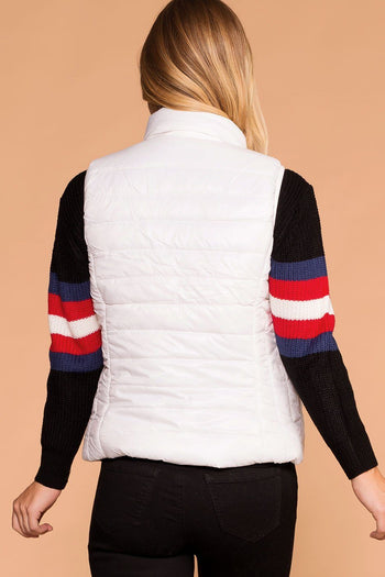 White | Puffer Vest | Lightweight | Womens | Priceless
