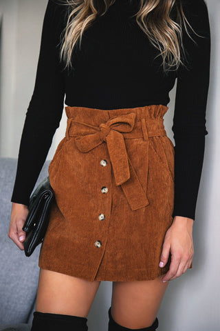 Jameson Navy Corduroy Skirt