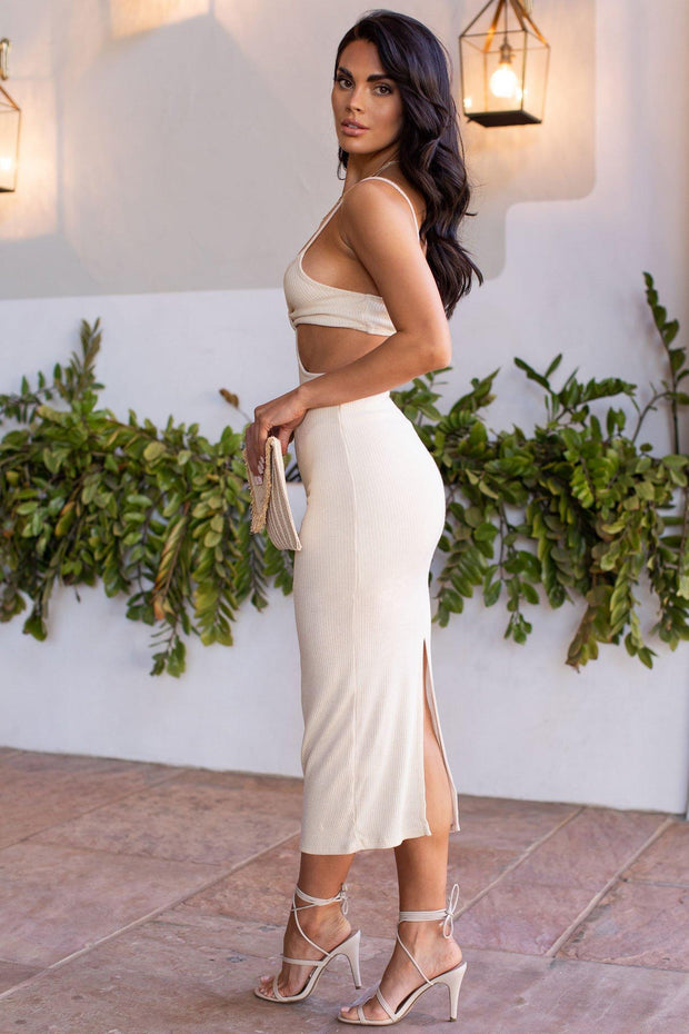 Nobody Else Ivory Maxi Dress
