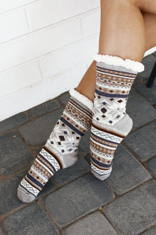 Hope Over The Knee Socks in Ivory