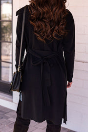 Black Lightweight Trench Coat