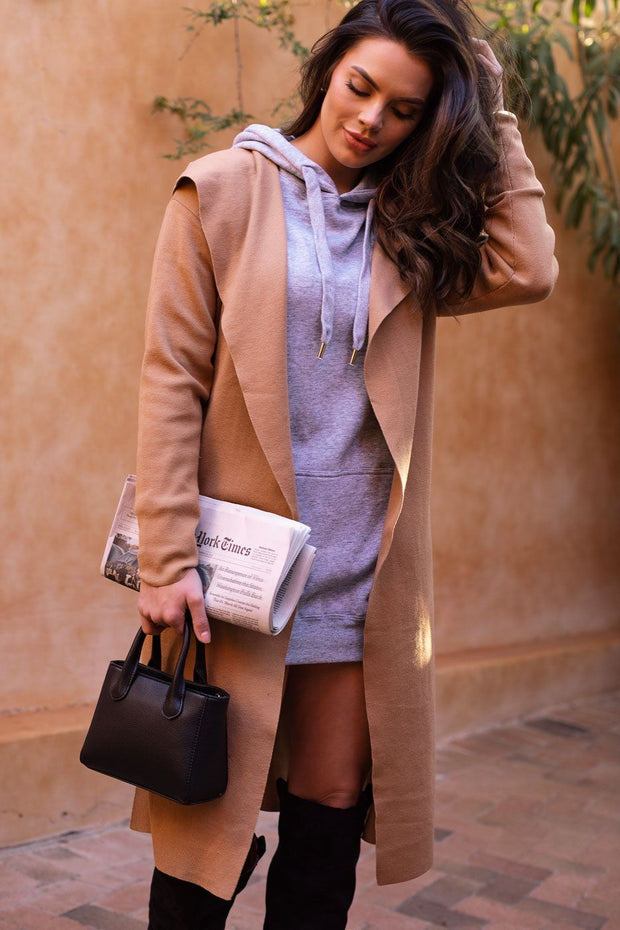 Audra Heather Grey Hoodie Dress