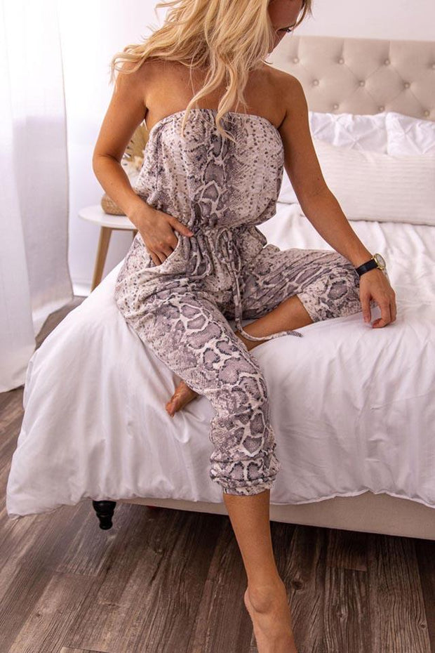 On Instinct Snake Print Jumpsuit