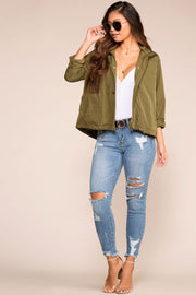 Priceless | Olive | Utility Jacket | Womens