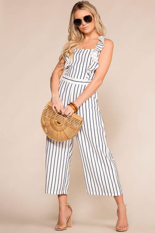 Carefree Distressed Denim Overalls
