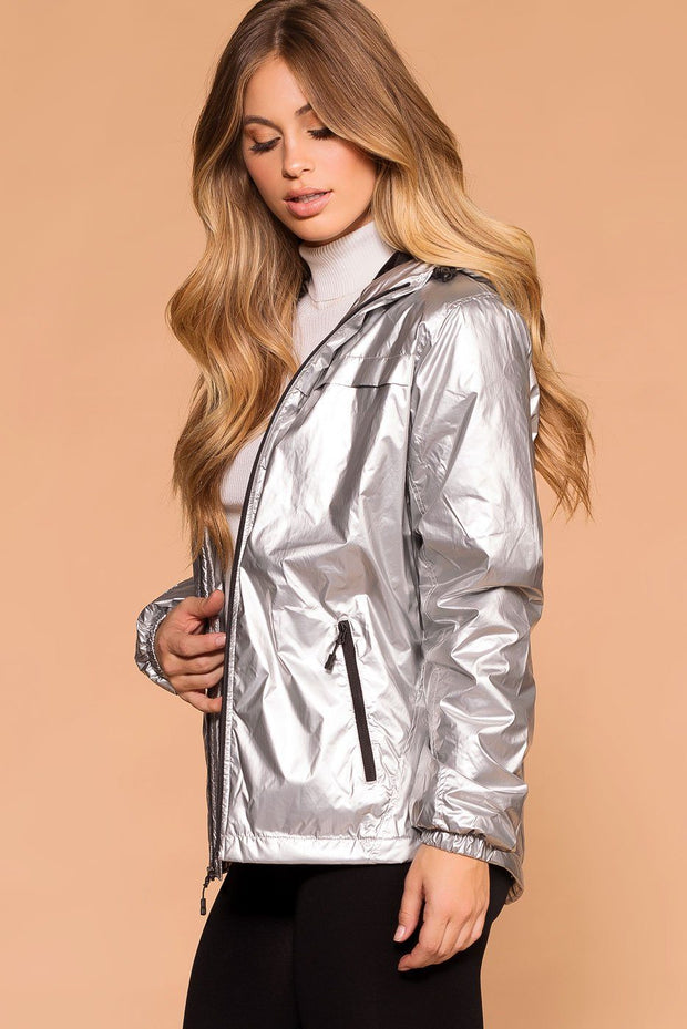 Priceless | Silver Reflective Jacket | Water Resistant | Womens