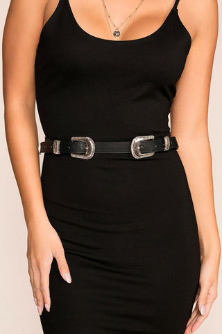 Sweet And Simple Thin Black Belt