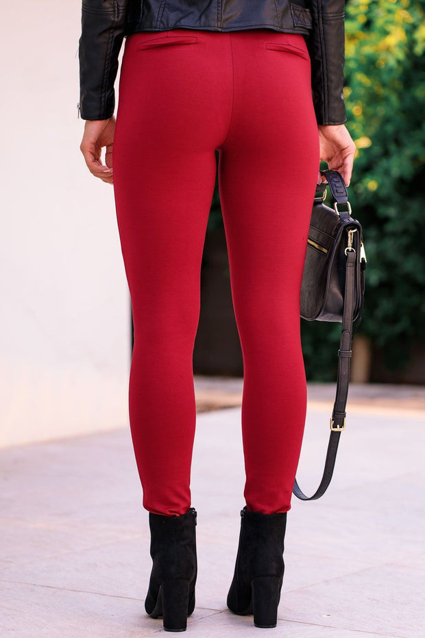 Wine Red Leggings