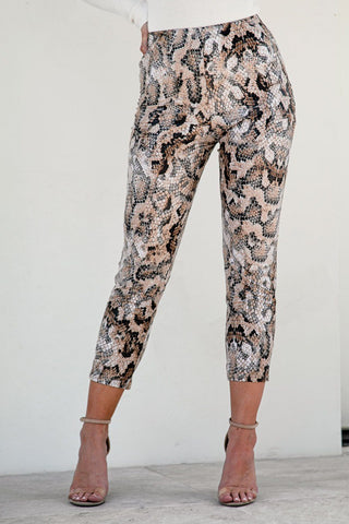 Calypso High Waist Pants - White