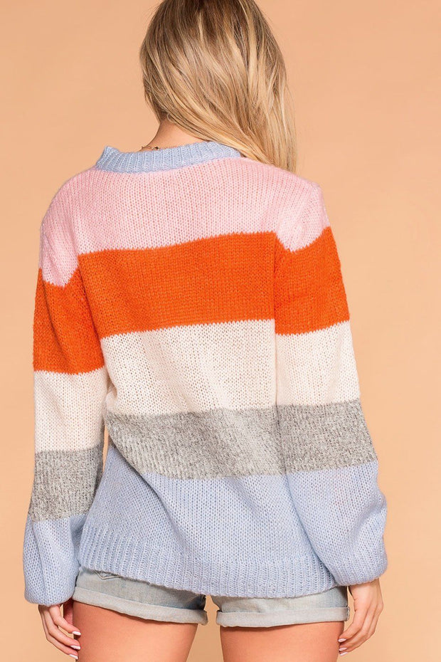 Priceless | Knit Sweater | Colorblock Sweater | Womens