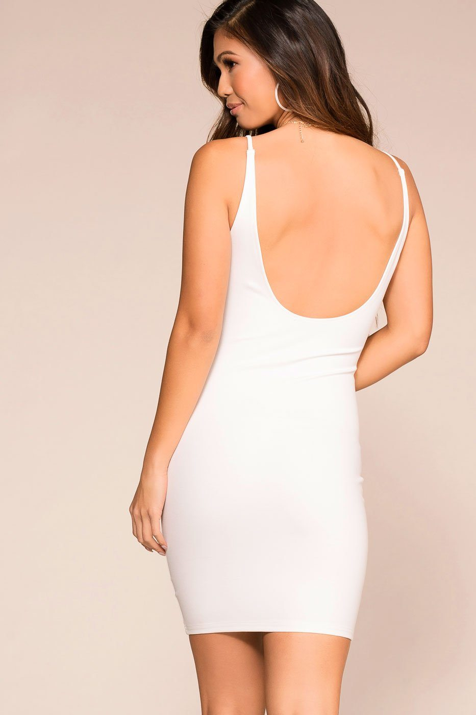 Out All Night White Bodycon Dress | French Kiss