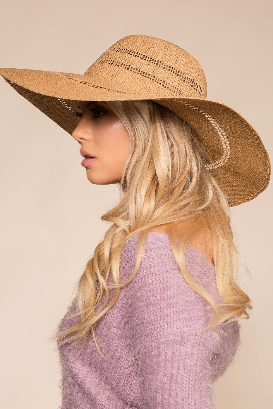 Woven Sun Hat with Floppy Brim