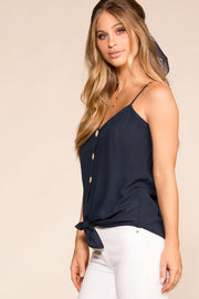 Shop Priceless | Navy | Button | Tank Top | Womens