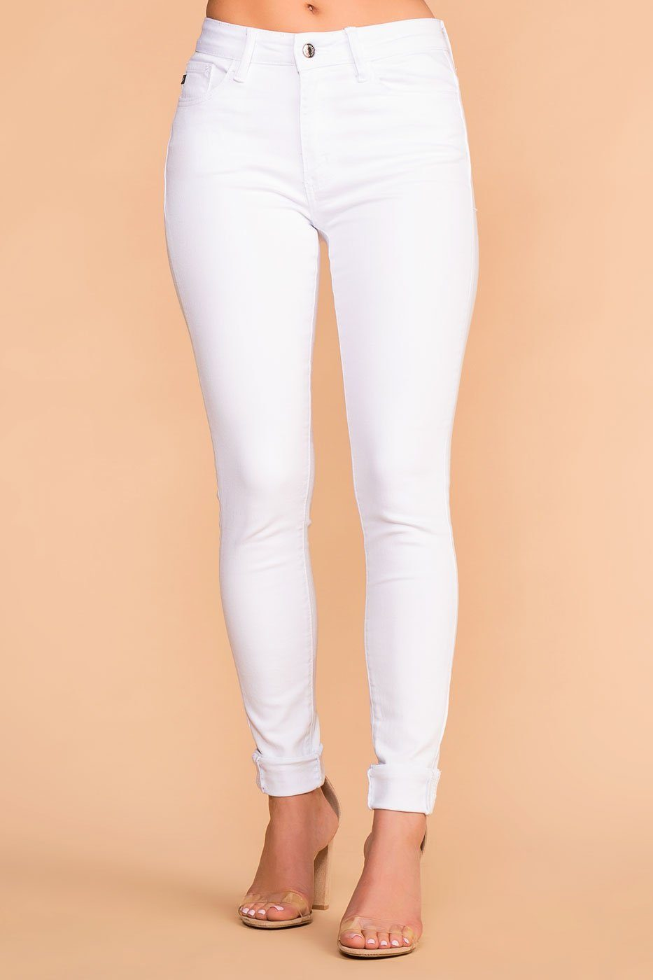 Priceless | White | High Waisted Jeans | Priceless