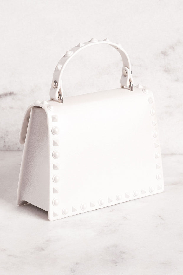 White Studded Purse