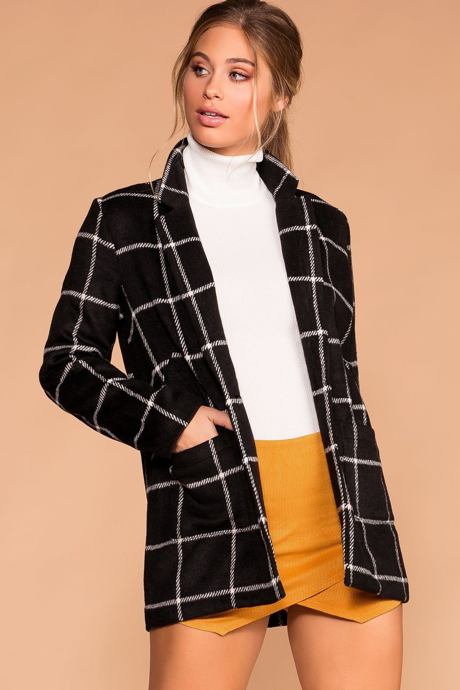 Pennington Black Plaid Coat | Shop Priceless